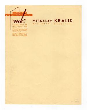 MUO-008307/16: MIROSLAV KRALIK ovlašteni graditelj: listovni papir