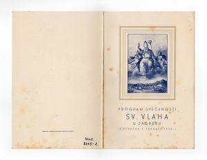 MUO-008305/02: Program svečanosti Sv. Vlaha: program