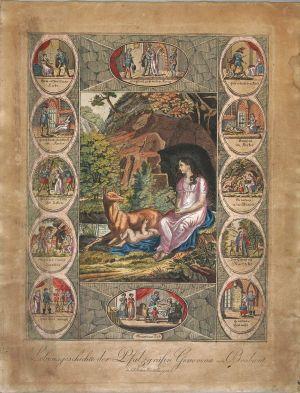 MUO-005351: Životna pripovijest o Genovevi od Brabanta: grafika