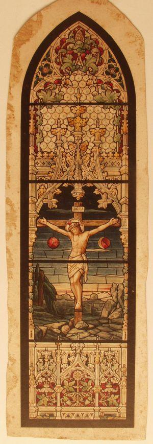 MUO-029402: Isus na križu: skica za vitraj