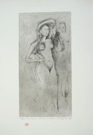 MUO-050519/03: Žena s voćem: grafika