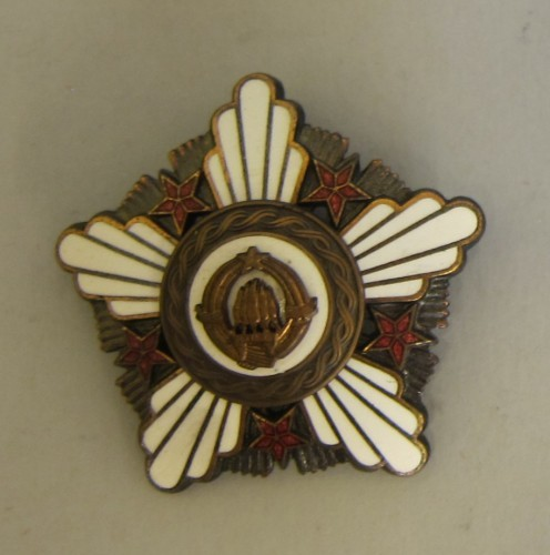 MUO-025136/01: Orden republike sa brončanim vijencem: orden