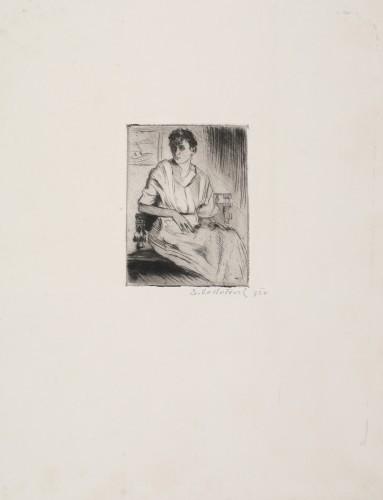 MUO-058471/04: Portret žene: grafika