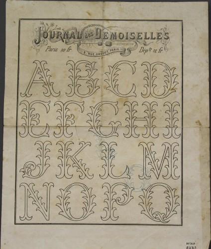 MUO-006273/02: Journal des demoiselles: predložak za vezenje