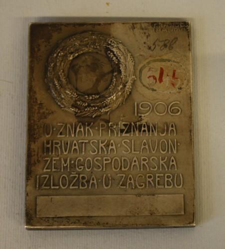 MUO-000645: plaketa