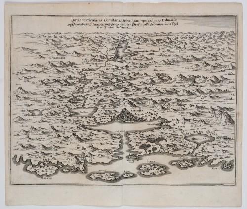 MUO-058926: SITUS PARTICULARIS COMITATUS, SEBENICIANI, QUIEST PARS DALMATIAE: zemljopisna karta