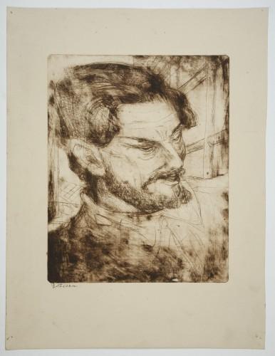 MUO-057830: Portret muškarca: grafika