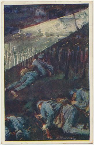 MUO-008745/74: Scena iz rata - Razglednica Crvenog križa: razglednica