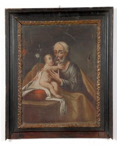 MUO-000030: Sv. Josip s Isusom: slika