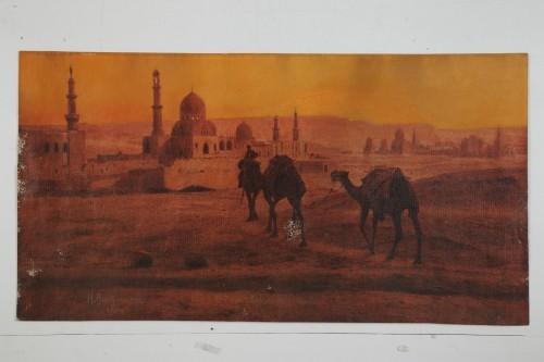 MUO-033392: Deve pred džamijom / Zimski put: slika