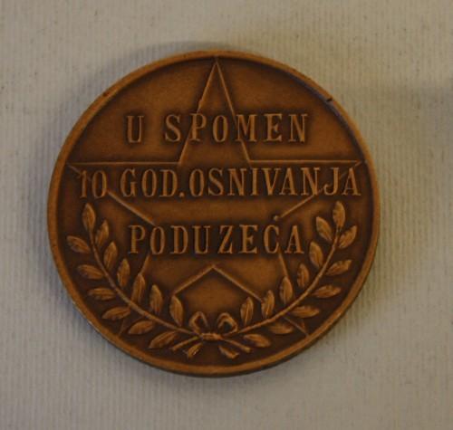MUO-011908: IKOM 1946-1956 / U SPOMEN 10. GOD. OSNIVANJA PODUZEĆA: medalja