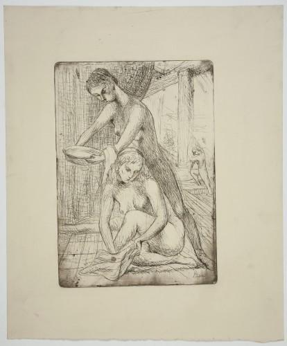 MUO-057833: Djevojke u kupelji: grafika
