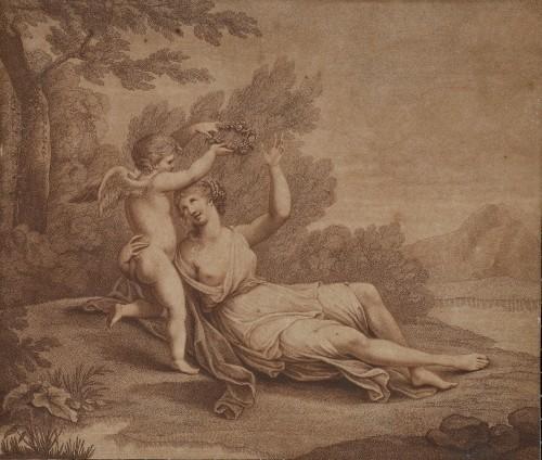 MUO-058126: Amor  kruni Veneru  lovorovim vijencem